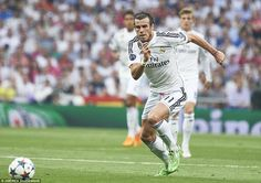 Gareth Bale sprints after the ball as he tries to make an impact on the second leg after a...