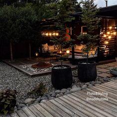 Landscape Design, Garden Design, Building A Cabin, Backyard Patio Designs, Garden Seating, Planters, Exterior, Outdoor Decor, Flowers