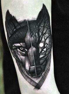 Men's Small Wolf Tattoos                                                       …
