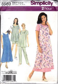 Maternity modest dress - Simplicity 8589 Maternity Wardrobe Dress Top