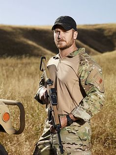 Chris Kyle.  #StarsEarnStripes  Chris Kyle, the most AWESOME US Navy Seal Ever! Doesn't hurt that he is HOT TOO!