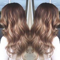 Soft Blonde Balayage Highlights on Long Hair