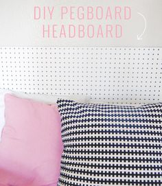DIY Pegboard Headboard - add trim around edges for a more finished look