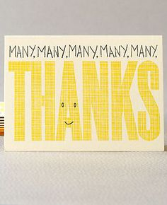 Thank You Cards via Oh So Beautiful Paper