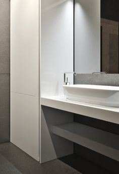 | BATHROOM | Credit: Igor Sirotov | Frame house #bathrooms #modern #vanity