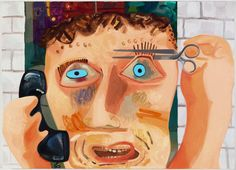 Dana schutz humorous, gestural paintings that take on specific subjects or narrative situations. Her scale in the piece is great.