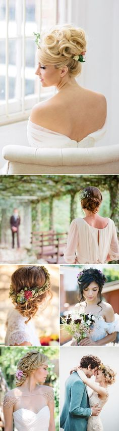 Natural & Down to earth updo wedding hairstyles