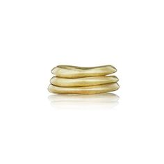 Tidal Stackable Rings Perfect together or worn one-by-one, stack up on our sculpted set-of-three nesting rings in worn 12k gold plating. Their unique + modern wave-like shapes add a note of organic elegance to any look.