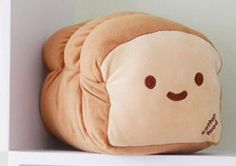 Cute bread pillow.