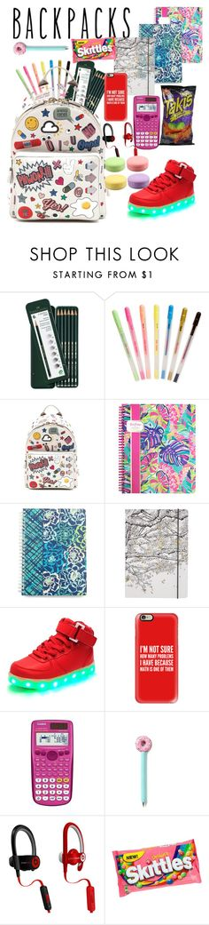 """""""school"""" by fashionforwardfaith ❤ liked on Polyvore featuring Faber-Castell, ban.do, Anya Hindmarch, Lilly Pulitzer, Vera Bradley, Go Stationery, Casetify, Casio, Beats by Dr. Dre and backpacks"""