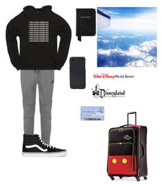 """""""Hunter on his way to Florida/Disney (ik he lives in Florida now but yea)"""" by arianaabner ❤ liked on Polyvore featuring NIKE, Vans, Aspinal of London, Shinola, Disney, men's fashion and menswear"""