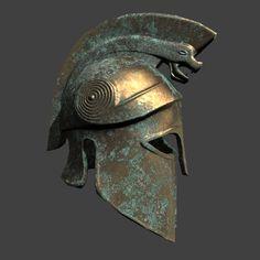 Helmet Armor, Warrior Helmet, Arm Armor, Ancient Armor, Medieval Armor, Greek History, Ancient History, Greek Warrior, Greek Art
