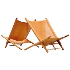 Ole Gjerløv-Knudsen Saw Lounge Chairs Cado, 1958 | From a unique collection of antique and modern lounge chairs at https://www.1stdibs.com/furniture/seating/lounge-chairs/