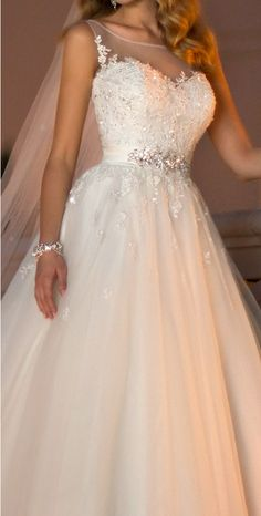 I love how the waist is taken in, and has beads to emphasize the waist. Pretty!