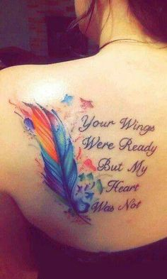 Rainbow bridge tattoo