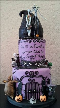 Nightmare Before Christmas Cakes