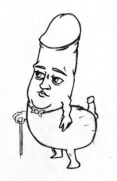 penis line art