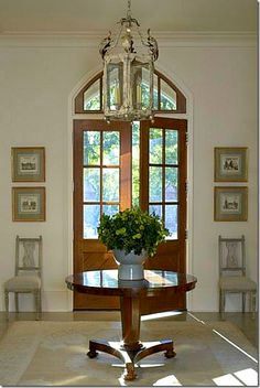 Spitzmiller Norris Architects-French Cottage - I love a real foyer. Decor, Atlanta Homes, House, French Cottage Decor, Home, Entry Foyer, Grand Foyer, Cottage Decor, House Styles