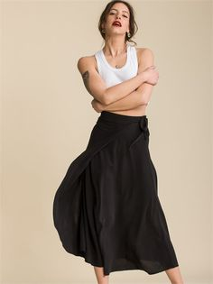 Alanis Noir Skirt - ΡΟΥΧΑ