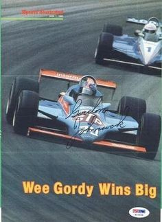 """Gordon Johncock STP Racing Team Autographed 8x10 Magazine Photo # 92 PSA COA . $30.00. Indy Car DriverGordon JohncockHand Signed 8x10""""Color Magazine PhotographGordy was a 2-time winner of the Indianapolis 500. .GREAT AUTHENTIC INDY RACING COLLECTIBLE!!AUTOGRAPHS AUTHENTICATED BY PSA DNA WITH NUMBERED PSA STICKER ON ITEM AND MATCHING NUMBERED PSA CERTIFICATE OF AUTHENTICITY (COA) INCLUDED WITH ITEM.PSA COA#: H 23468"""