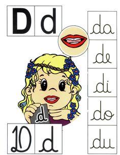 Letra D mayúscula, d minúscula.