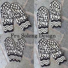 Gøyale votter med teksten Vott the Føkk Mittens Pattern, Mitten Gloves, So Little Time, Knit Crochet, Knitting, How To Make, Crafts, Inspiration, Hands