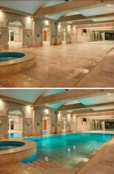 Pools before and  After.
