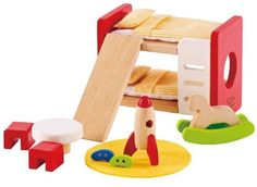 Every child wants a cool space to call their own. With the Children's Room Doll House Furniture Set from Hape kids can decorate their doll's room with style. This innovatively designed furniture set ...