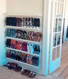 shoe storage shoes storage ideas, shoe organization for small space, shoes closet, cheap storage ideas Closet Shoe Storage, Diy Shoe Rack, Shoe Closet Organization, Diy Shoe Organizer, Shoe Storage Ideas For Small Spaces, Wall Shoe Rack, Shoe Rack For Small Closet, Storage For Shoes, Shoe Storage Solutions