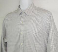 Men Brooks Brothers Check Dress Shirt Slim Fit Non Iron 100% Cotton sz 17  X 33…