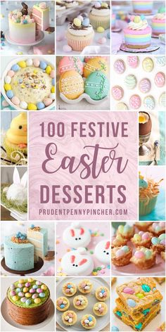 Celebrate easter with one of these beautiful easter desserts. There are easter cakes, easter cupcakes, easter cookies and many more dessert recipes that are perfect for a crowd and will look stunning on your easter dessert table. Easter Dishes, Easter Snacks, Easter Appetizers, Easter Brunch, Easter Treats, Easter Recipes, Dessert Recipes, Easter Food, Cupcake Recipes
