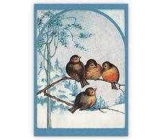 Vintage Weihnachtskarte mit Vögeln im Schnee - http://www.1agrusskarten.de/shop/vintage-weihnachtskarte-mit-vogeln-im-schnee/    00001_0_239, Grußkarte, Jahreszeiten, Klappkarte, Tiere, Vintage, Weihnachtskarten, Winter00001_0_239, Grußkarte, Jahreszeiten, Klappkarte, Tiere, Vintage, Weihnachtskarten, Winter