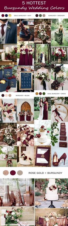 5 trending burgundy wedding color ideas