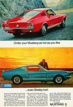 1968 ford mustang werbung ford mustang 1968 mustang. Black Bedroom Furniture Sets. Home Design Ideas