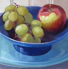Apple with Grapes by Joanna Olson