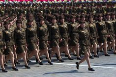 North Korean soldiers on parade.