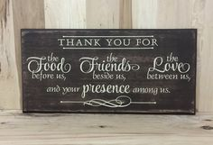 Thank you wood sign wood sign scripture Christian wall art