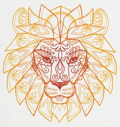 Mendhika Lion | Urban Threads: Unique and Awesome Embroidery Designs