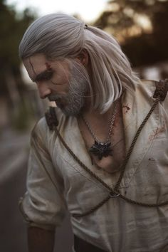 Maul Cosplay Geralt The Witcher 3 Wild Hunt Wiedźmin 3 Dziki Gon