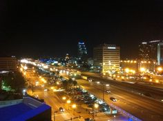 View of Downtown Orlando Skyline at the top of the Amway Center at the 180 Grey Goose Lounge