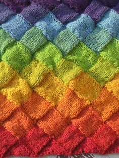 entrelac rainbow