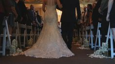 we love the shot at the back of the isle on the floor to really capture isle and back of dress details. Film screen shot from the film created by 2ndGenFilms.com 2016 Screen Shot, Mermaid Wedding, Films, Floor, Wedding Dresses, Fashion, Movies, Pavement, Bride Dresses