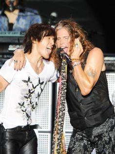 B'z with Aerosmith Aug.9 '13