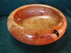 cherry wood burl bowl