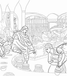 First Miracle Of Jesus At The Wedding Feast Cana Coloring Page From Mission Period Category Select 28436 Printable Crafts Cartoons Nature