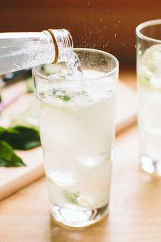 Cucumber-Thai Basil Gin and Tonic