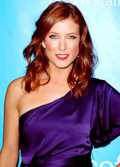 Kate Walsh . Adison Montgomery . Grey's Anatomy . Red copper curly long hair style