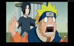 Ha ha Sasuke kicks Naruto out!