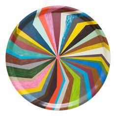 Splash bricka från Fine Little Day Textile Pattern Design, Textile Patterns, Color Patterns, Geometric Patterns, Scandinavian Home Interiors, Scandinavian Style, Decoration, Rainbow Colors, Color Inspiration