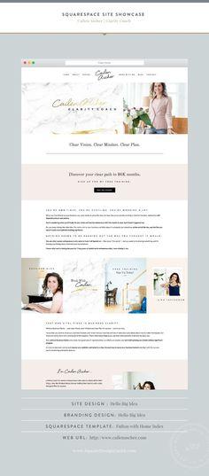 Squarespace Design Guild | Site Showcase | Cailen Ascher by Hello Big Idea Fulton Template for Squarespace